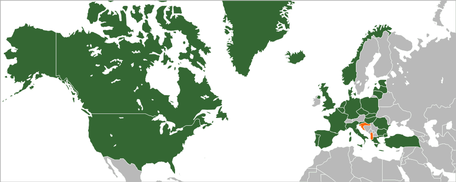 European union maps as can be seen from the list on the side a vast majority of european union member states are also members of nato with two of the member states also being gumiabroncs Choice Image