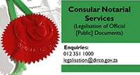 Consular Notarial Services - Legalisation of Official [Public] Documents)