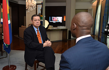 Interview with Deputy Minister Luwellyn Landers at the G20 Foreign Ministers Meeting, Buenos Aires, Argentina, 20 May 2018.