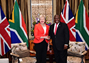President Cyril Ramaphosa meets with Prime Minister Theresa May of the United Kingdom of Great Britain and Northern Ireland, Cape Town, South Africa, 28 August 2018.