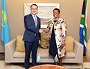 Deputy Minister Reginah Mhaule meets with the Deputy Foreign Minister, Mr Yerzhan Ashikbayev, of Kazakhstan, Pretoria, South Africa, 23 November 2018.