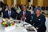 President Cyril Ramaphosa hosts the Diplomatic Corps in celebration of Africa Day 2018, Sefako M. Makgatho Presidential Guesthouse, Pretoria, South Africa, 25 May 2018.