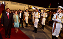 President Cyril Ramaphosa accompanied by his spouse, Dr Tshepo Motsepe, arrive in Beijing, People's Republic of China, 1 September 2018. President Ramaphosa is on a State Visit at the invitation of President Xi Jinping and he will co-chair Forum on China-Africa Cooperation (FOCAC).