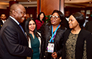 President Ramaphosa arrives at CHOGM and extends an invitation to business to invest in South Africa. President Ramaphosa is met by Minister Lindiwe Sisulu, the Minister of Trade and Industry, Rob Davies, and the High Commissioner, Ms N Tambo, London, United Kingdom, 17 April 2018.
