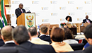 President Cyril Ramaphosa interacts with the Diplomatic Corps represented in South Africa, Department of International Relations and Cooperation, OR Tambo Building, Pretoria, South Africa, 14 September 2018.