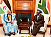 President Cyril Ramaphosa receives President Brahim Ghali of the Saharawi Arab Democratic Republic (SADR), Union Buildings, Pretoria, South Africa, 5 June 2018.