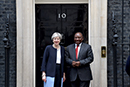 Bilateral Meeting between President Cyril Ramaphosa and the Prime Minister of the United Kingdom, Theresa May, 17 April 2018. President Ramaphosa is on a Working Visit to attend the Commonwealth Heads of Government Meeting (CHOGM 2018) from 19-20 April 2018, London, United Kingdom.