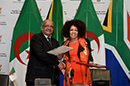 Signing of the MOU by Minister Lindiwe Sisulu and the Minister of Foreign Affairs of the People's Democratic Republic of Algeria, Mr Abdelkader Messahel, Cape Town, South Africa, 29 August 2018.