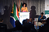 Minister Lindiwe Sisulu addresses stakeholders during a Post-Budget Vote Speech Breakfast, Cape Town International Convention Centre, Cape Town, South Africa, 16 May 2018.