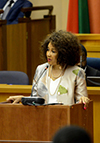 Minister Lindiwe Sisulu delivers the Budget Vote Speech of the Department of International Relations and Cooperation, Parliament, Cape Town, South Africa, 15 May 2018.