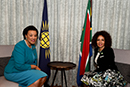 Bilateral Meeting between Minister Lindiwe Sisulu and the Secretary General of the Commonwealth, Baroness Patricia Scotland, regarding geo political issues and Commonwealth Mandela Declaration, London, United Kingdom, 18 April 2018.