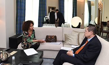 Minister Lindiwe Sisulu and Deputy Minsiter Luwellyn Landers prepare for the G20 Foreign Ministers Meeting, Buenos Aires, Argentina, 20 May 2018.