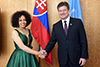Minister Lindiwe Sisulu pays a Coutersy Call on the President of the UN General Assembly (PGA), Mr Miroslav Lajcak, Former Minister of Foreign Affairs of Slovakia, New York, USA, 8 June 20 2018.