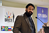 Professor Anil Sooklal, the Deputy Director General of Asia Middle East from the Department of International Relations and Cooperation, addresses the BRICS Roundtable Discussion, Durban, South Africa, 18 June 2018.