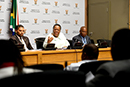Minister Naledi Pandor addresses the Pre-Budget Vote Media Briefing, Cape Town, South Africa, 11 July 2019.