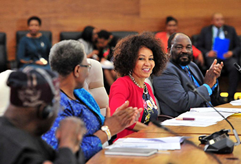 Minister Lindiwe Sisulu at the SADC Solidarity Conference with the Sahrawi Arab Democratic Republic (SADR) or Western Sahara, Pretoria, South Africa, 25-26 March 2019.