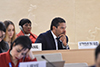 Deputy Minister Alvin Botes attends the High Level Panel Discussion commemorating the 25th Anniversary of the Beijing Declaration and Platform for Action (BDPA), at the High-Level Segment of the 43rd Session of the United Nations (UN) Human Rights Council, Geneva, Switzerland, 25 February 2020.