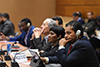 "Deputy Minister Alvin Botes participates in the SADR side-event entitled ""The Role of the UN and Regional Mechanisms in Promoting and Protecting Human Rights"", at the High-Level Segment of the 43rd Session of the United Nations (UN) Human Rights Council, Geneva, Switzerland, 26 February 2020."