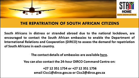 The repatriation of South African citizens