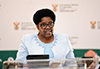 Deputy Minister Candith Mashego-Dlamini addresses a symposium on South Africa's chairing of the African Union (AU), University of Venda, Thohoyandou, Limpopo Province, South Africa, 13 March 2020.