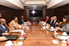 Bilateral Meeting between Minister Naledi Pandor and the Minister of Foreign Affairs of Maldives, Mr Abdulla Shahid, Taj Palace, New Delhi, India, 16 January 2020.