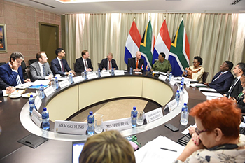 Minister Naledi Pandor hosts the Foreign Minister of Netherlands, Mr Stef Blok, for the inaugural meeting of South Africa – Netherlands Joint Commission for Cooperation (JCC), OR Tambo Building, Pretoria, South Africa, 3 February 2020