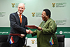 Minister Naledi Pandor hosts the Foreign Minister of Netherlands, Mr Stef Blok, for the inaugural meeting of South Africa – Netherlands Joint Commission for Cooperation (JCC), OR Tambo Building, Pretoria, South Africa, 3 February 2020.