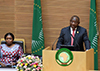 President Cyril Ramaphosa delivers his Acceptance Statement of the 2020 African Union (AU) Chairship on the occasion of the 33rd Ordinary Session of the Assembly of Heads of State and Government, African Union (AU) Conference Centre, Addis Ababa, Ethiopia, 9 February 2020.