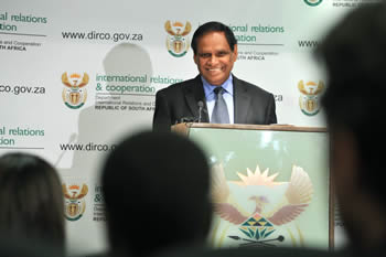 Deputy Minister of International Relations and Cooperation, Mr Ebrahim Ebrahim briefs the Media on a variety of International Issues, Pretoria, South Africa, 22 March 2012.