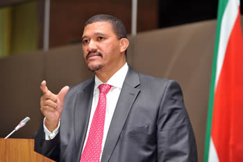Deputy Minister Marius Fransman at the Opening Session of the Development and Humanitarian Assistance in Africa Meeting, Pretoria, South Africa, 4 September 2012.