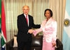 Minister Maite Nkoana-Mashabane hosts the Minister of Foreign Affairs and Worship, Mr Héctor Timerman, of Argentina for a Bi-National Commission at the O R Tambo Building, Pretoria, South Africa, 2 November 2012.