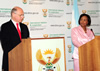 Minister Maite Nkoana-Mashabane and the Minister of Foreign Affairs and Worship, Mr Héctor Timerman, of Argentina, hold a Press Conference at the conclusion of the Bi-National Commission at the O R Tambo Building, Pretoria, South Africa, 2 November 2012.