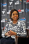 Minister of International Relations and Cooperation, Ms Maite Nkoana-Mashabane during The New Age Business Briefing Session, Johannesburg, South Africa, 11 September 2011.
