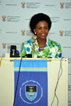 "Minister Maite Nkoana-Mashabane delivers a Public Lecture on ""Celebrating the Legacy of Liberation Movements in Africa: Freedom Through Diplomacy"", University of Cape Town, Cape Town, South Africa, 6 March 2012."