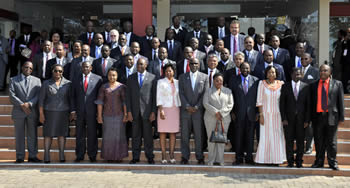SADC Ministerial Group photograph, Maputo, Mozambique, 15 August 2012.
