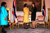 Minister Maite Nkoana-Mashabane pays a Courtesy-Call on H E Prime Minister Yingluck Shinawatra of Thailand. She is accompanied by the South African Ambassador to the Kingdom of Thailand, Ms Ruby Marks; Bangkok, Thailand, 3 September 2012.