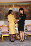 Minister Maite Nkoana-Mashabane pays a Courtesy-Call on H E Prime Minister Yingluck Shinawatra of Thailand, in Bangkok, Thailand, 3 September 2012.