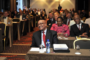 President Jacob Zuma attends the Science and Technology Meeting between South Africa and the European Union at the Sheraton Hotel, Brussels, Belgium, 18 September 2012.
