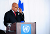 President Jacob Zuma addresses an audience at the High-Level Event on Women's access to Justice, organised by the Republic of Finland, South Africa and UNWomen, New York, USA, 25 September 2012.