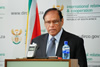 Deputy Minister Ebrahim Ebrahim briefs the media on international developments, including the visit of President Barack Obama to South Africa, developments in Syria, the outcomes of SADC Summit on Zimbabwe; and developments in Iran, Pretoria, South Africa, 21 June 2013.