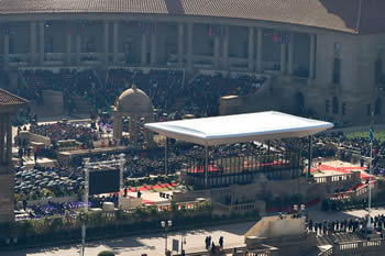 The 2014 Presidential Inauguration in the Nelson Mandela Amphitheatre at the Union Buildings, Pretoria, South Africa, 24 May, 2014.