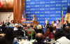 President Jacob Zuma delivers an address at the National Press Club, Washington DC, USA, 4 August 2014.