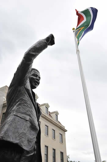Unveiling of a statue of Former President Nelson Mandela in front of the South African Embassy in Washington DC, USA on 21 September 2013.
