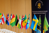 Flags at the venue of the 13th Nordic-Africa Foreign Minister's Meeting, Hameenlinna, Finland, 15-16 June 2013.