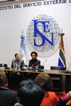 Minister Nkoana-Mashabane delivers a public lecture at the Institute for Foreign Service of the Argentine Foreign Ministry, Buenos Aires, Argentina, 1 August 2013.
