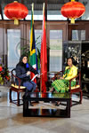Minister Maite Nkoana-Mashabane was hosted by Leanne Manas of SABC 2 Morning Live. SABC 2 Morning Live broadcasted from the Embassy of the People's Republic of China, Pretoria, South Africa, 29 August 2014.