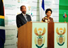 Minister Maite Nkoana-Mashabane hosts her counterpart from the Kingdom of Lesotho, Foreign Affairs and International Relations Minister Mohlabi Kenneth Tsekoa, for the Joint Bilateral Commission for Cooperation (JBCC) between the Republic of South Africa and the Kingdom of Lesotho, Pretoria, South Africa, 18 April 2013.