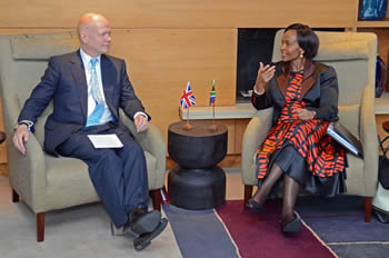 Minister of International Relations and Cooperation, Ms Maite Nkoana-Mashabane, meets with Mr William Hague, Secretary of State for Foreign and Commonwealth Affairs of the United Kingdom in Cape Town, South Africa, 09-10 September 2013.