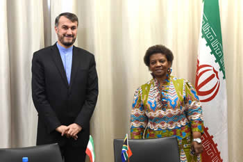 Deputy Minister Nomaindiya Mfeketo co-chairs the Fifth Meeting of the South Africa - Iran Deputy Ministerial Working Group with her counterpart, Deputy Minister of Foreign Affairs of the Islamic Republic of Iran, Dr Hossein Amir Abdollahian, Pretoria, South Africa, 8-9 September 2014.