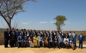 Group photograph of the SADC Ministers, Elephant Hills Resort Conferences Centre, Victoria Falls, Zimbabwe 14 August 2014.